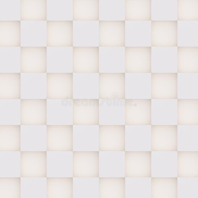 Teste padrão 3D sem emenda das formas geométricas brancas e bege ilustração royalty free
