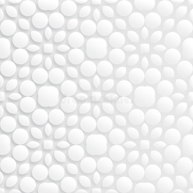 Teste padrão 3d sem emenda floral abstrato ilustração royalty free