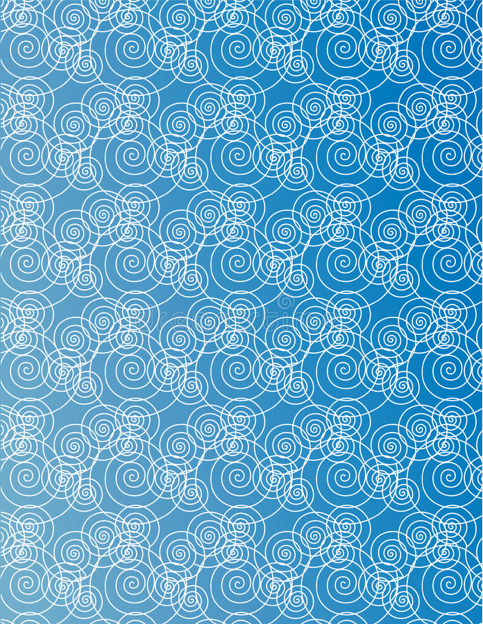 Teste padrão da água ilustração do vetor