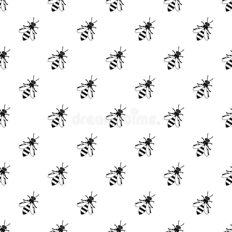 Teste padrão da abelha, estilo simples ilustração do vetor