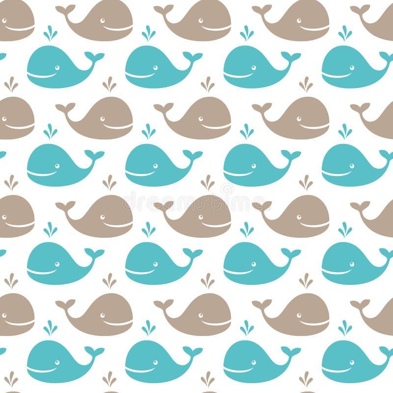 Teste padrão da baleia ilustração do vetor