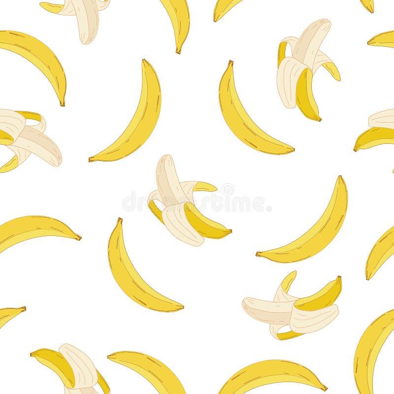 Teste padrão da banana do vetor ilustração stock