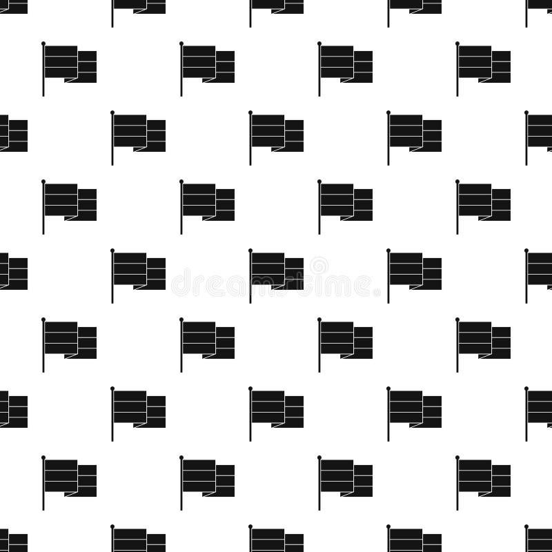 Teste padrão da bandeira, estilo simples ilustração stock