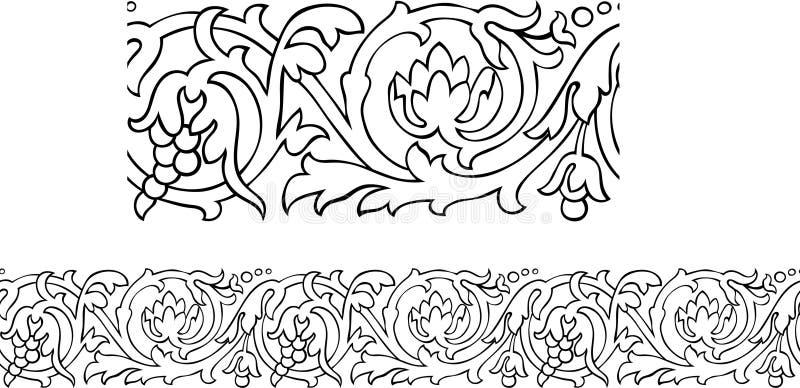 Teste padrão da beira do Victorian ilustração royalty free