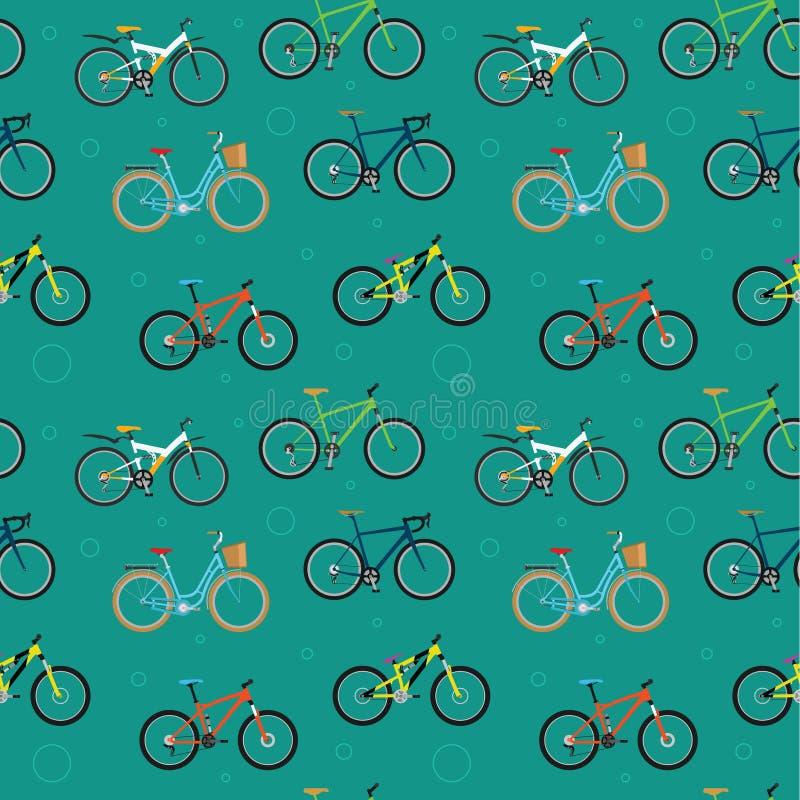 Teste padrão da bicicleta ilustração stock