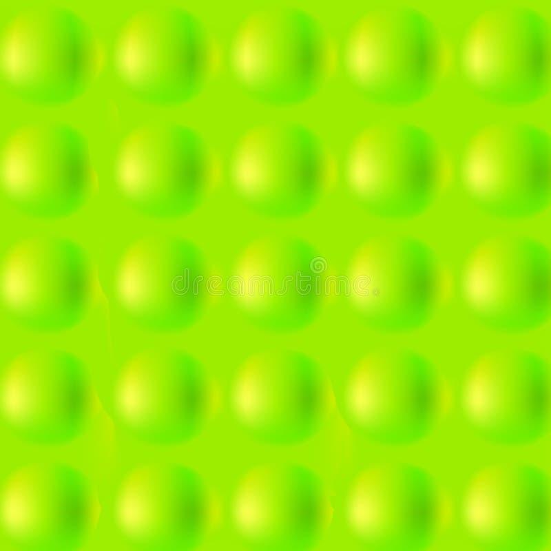 Teste padrão da bola de tênis, fundo, textura Verde, mola e campo abstratos do espaço Esporte da atividade esferas 3D ilustração stock