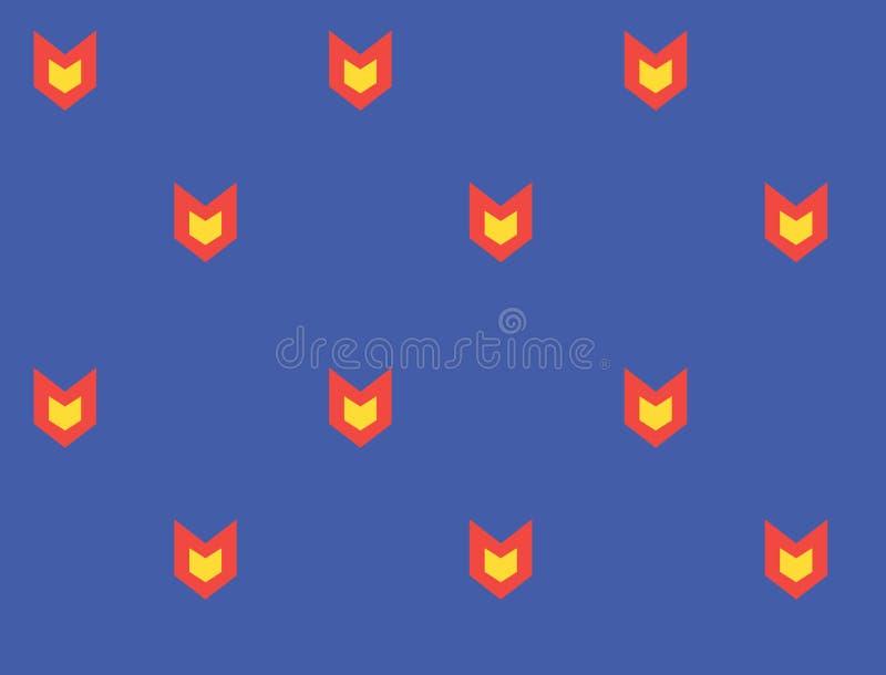 Teste padrão da cara do gato Sumário geométrico do teste padrão sem emenda do vetor ilustração stock