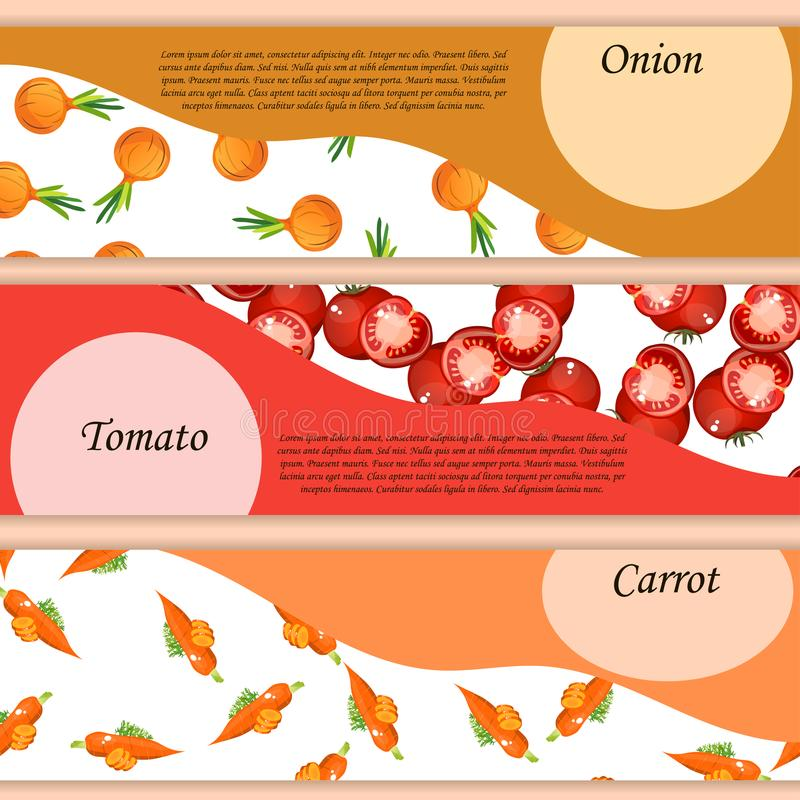 Teste padrão da cebola no alimento doce maduro dos vegetais da etiqueta ilustração royalty free