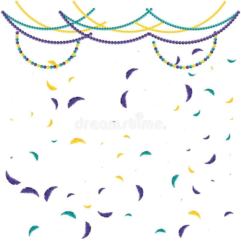 Teste padrão da celebração do carnaval das penas ilustração stock