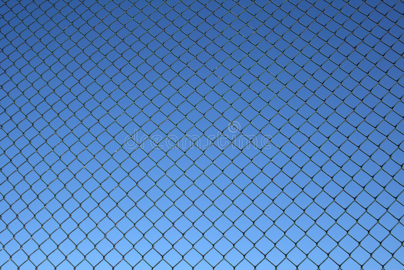 Teste padrão da cerca da ligação Chain imagens de stock