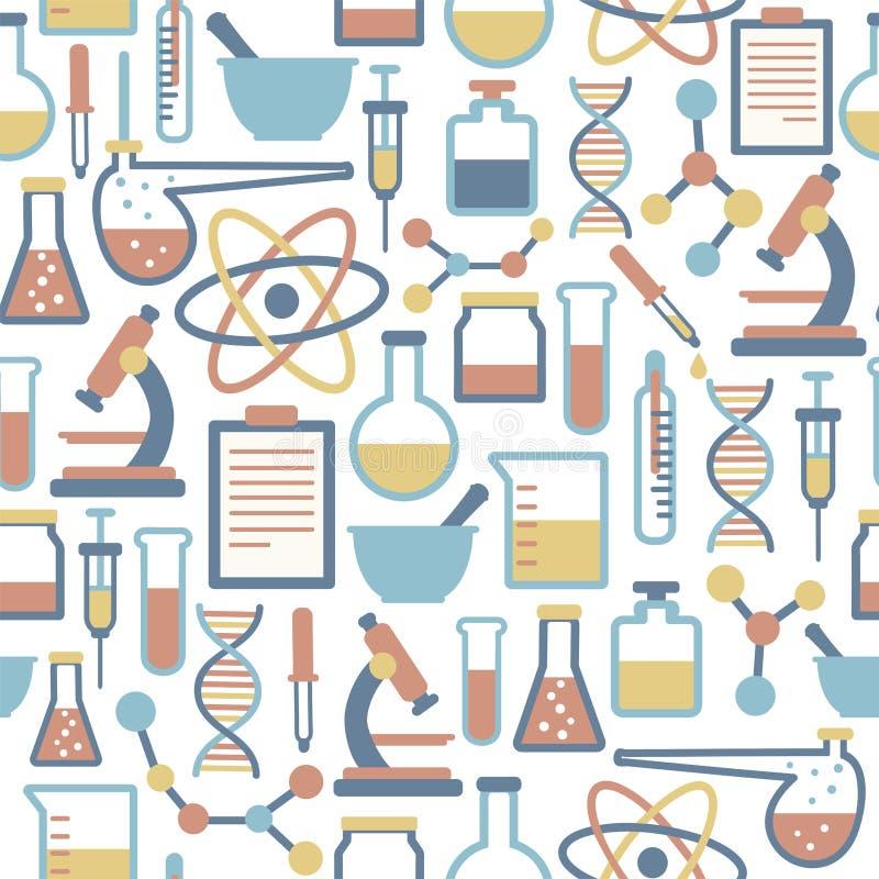 Teste padrão da ciência ilustração do vetor