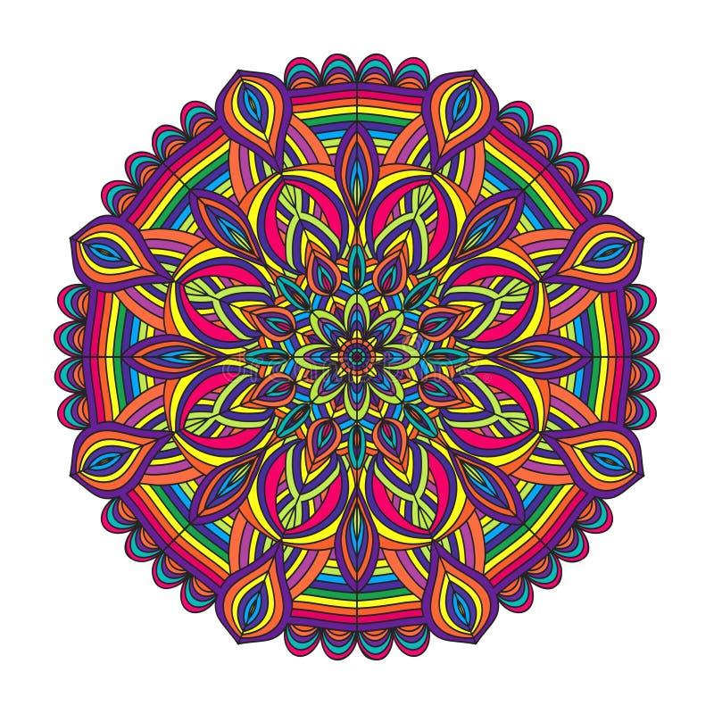 Teste padrão da circular da cor ilustração royalty free