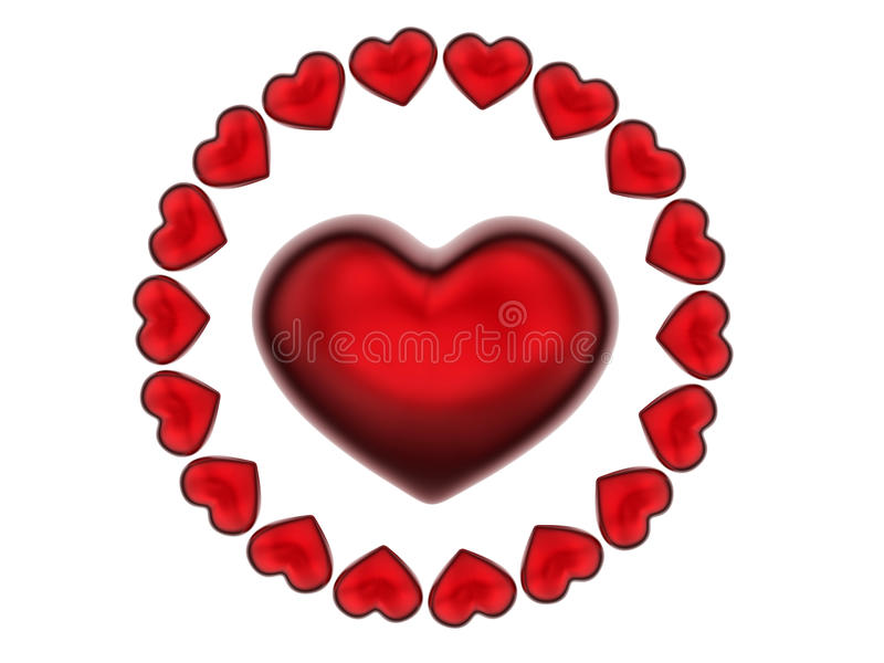 Download Teste Padrão Da Circular Dos Corações 3D Ilustração Stock - Ilustração de amor, creativo: 65575952