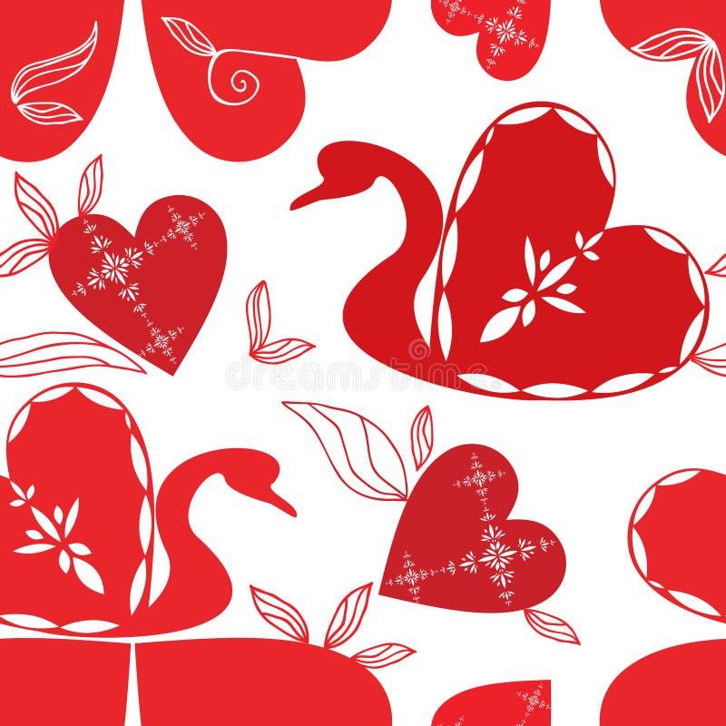 Teste padrão da cisne do amor, feriados. foto de stock
