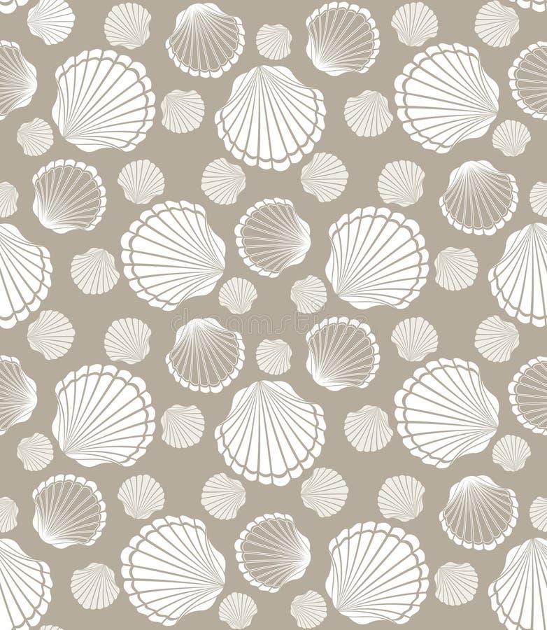 Teste padrão da concha do mar ilustração royalty free