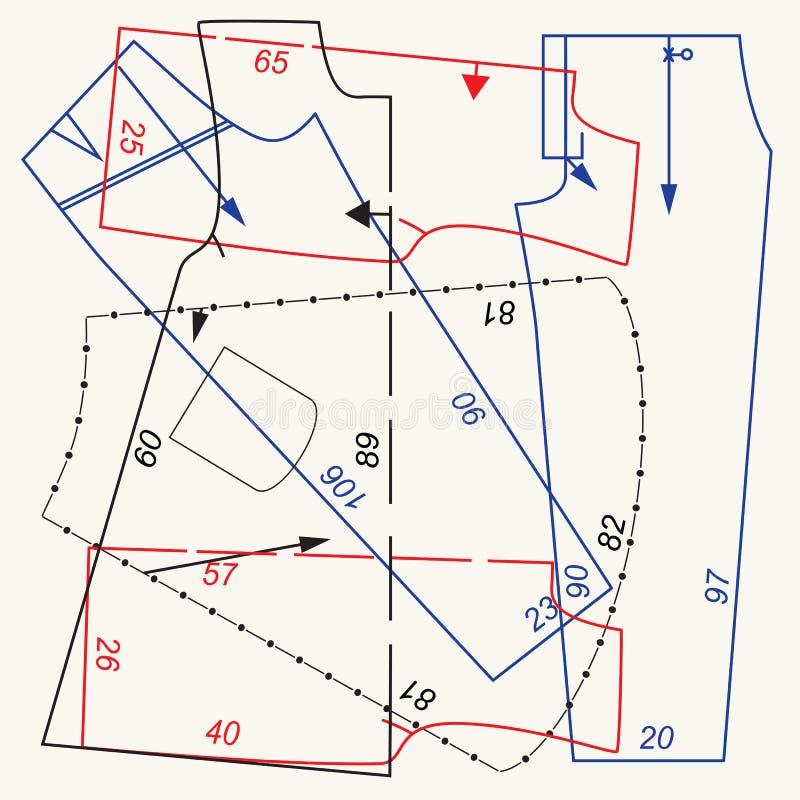 Teste padrão da costura ilustração do vetor