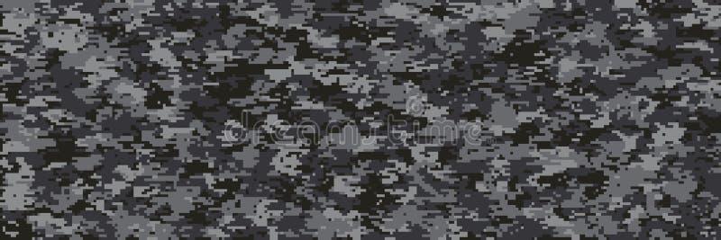 Teste padrão da escala da camuflagem de Digitas multi ilustração stock