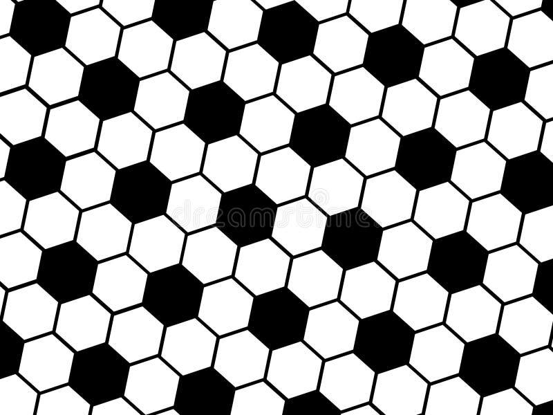 Teste padrão da esfera de futebol ilustração do vetor