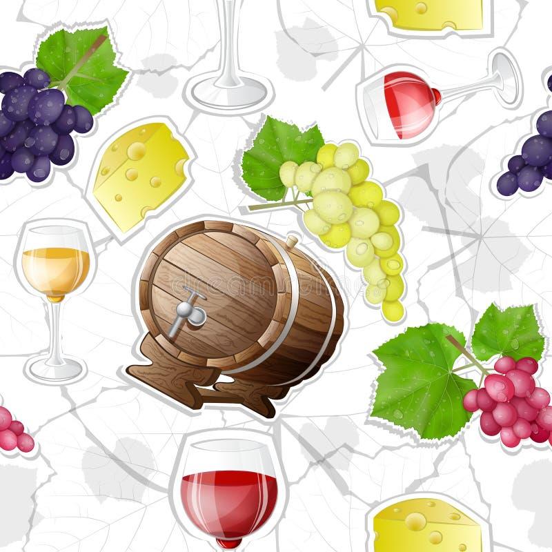 Teste padrão da fatura de vinho ilustração do vetor