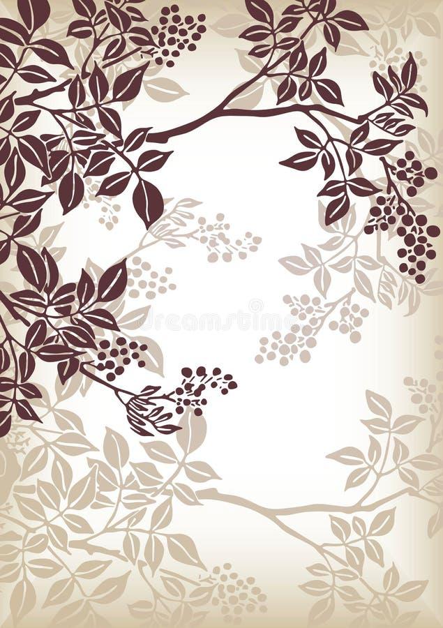 Teste padrão da filial de árvore ilustração royalty free