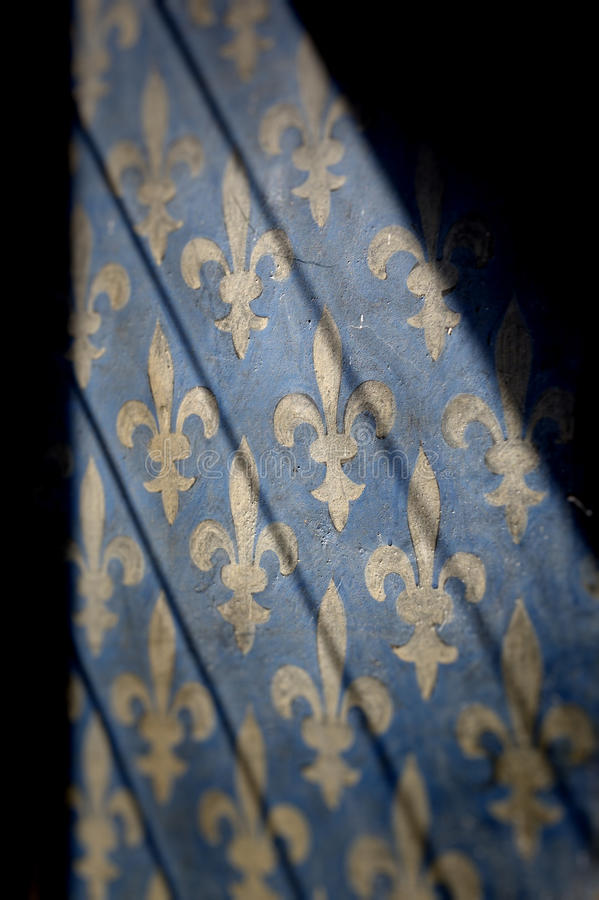 Teste padrão da flor de lis fotografia de stock