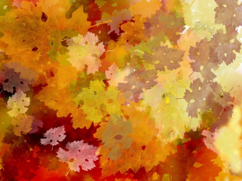 Teste padrão da folha da videira em cores da queda ilustração royalty free