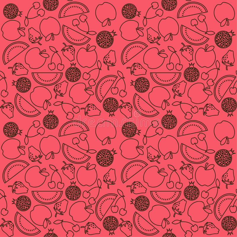 Teste padrão da fruta ilustração do vetor