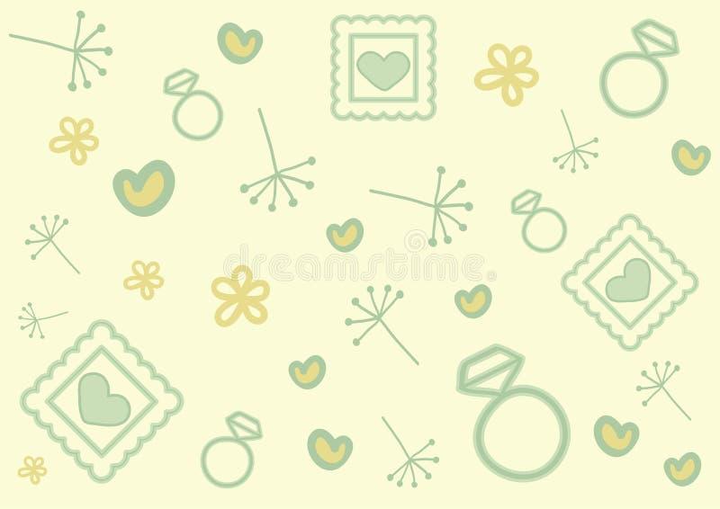 Teste padrão da garatuja do dia de Valentim ilustração stock