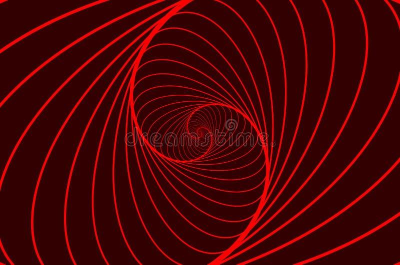 Teste padrão da ilusão ótica da elipse ilustração stock