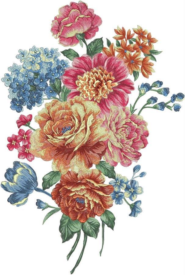 teste padrão da ilustração da flor no fundo simples ilustração do vetor