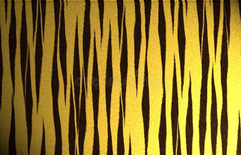 Teste padrão da listra do tigre ilustração do vetor