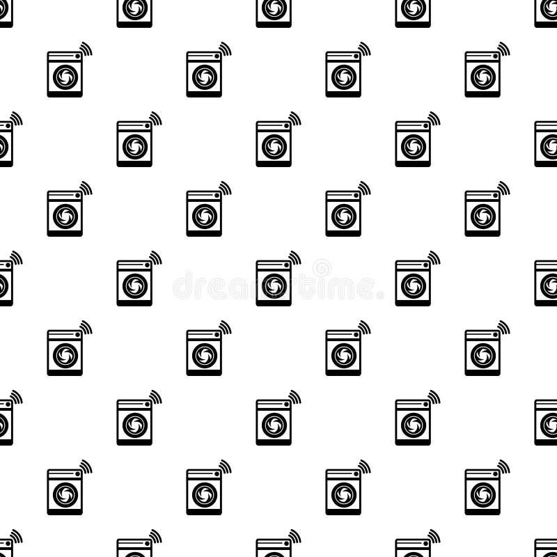 Teste padrão da máquina de lavar sem emenda ilustração royalty free