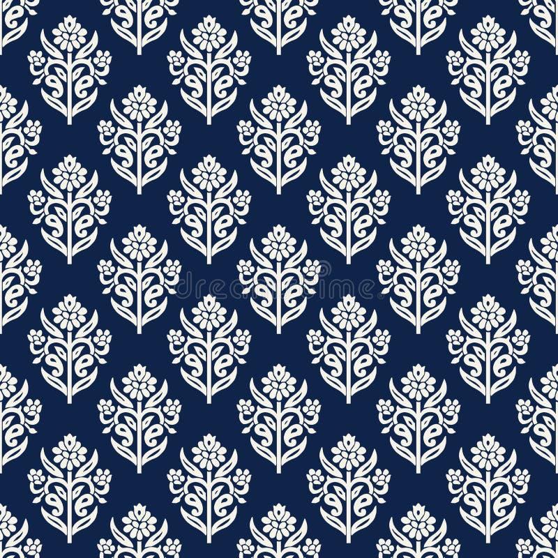 Teste padrão da mandala do blockprint de Kashmir ilustração royalty free