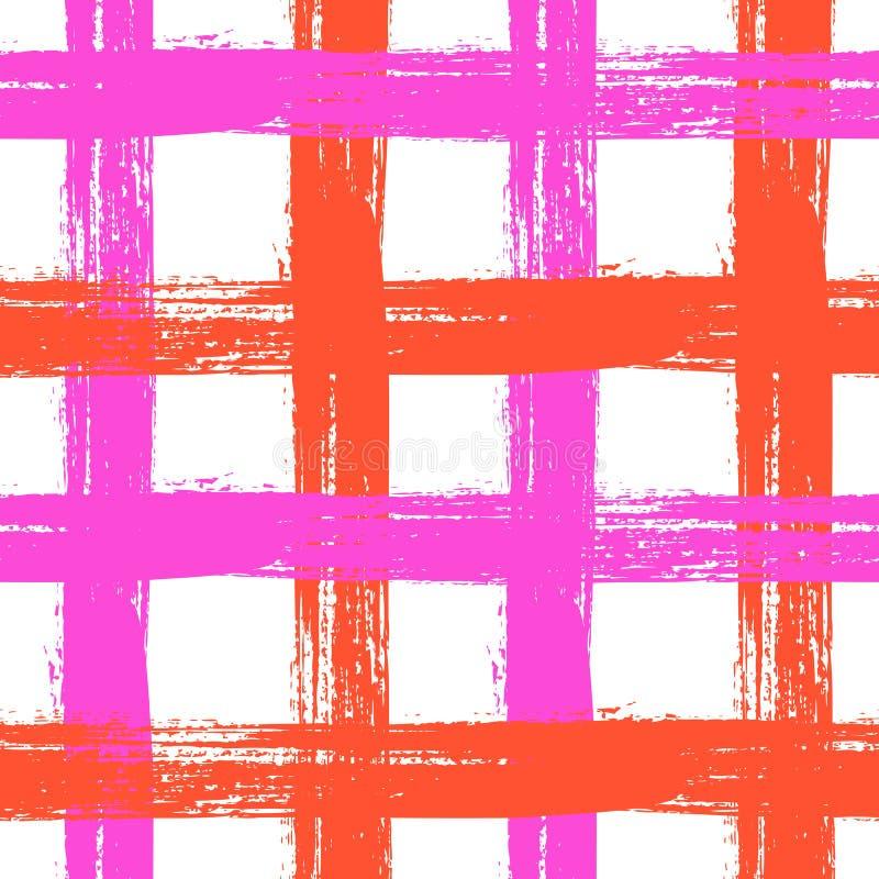 Teste padrão da manta com cruzamento de listras largas em brilhante ilustração royalty free