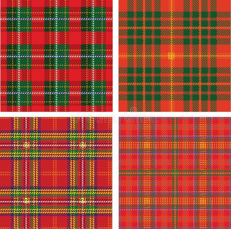 Teste padrão da manta de tartan sem emenda ilustração royalty free
