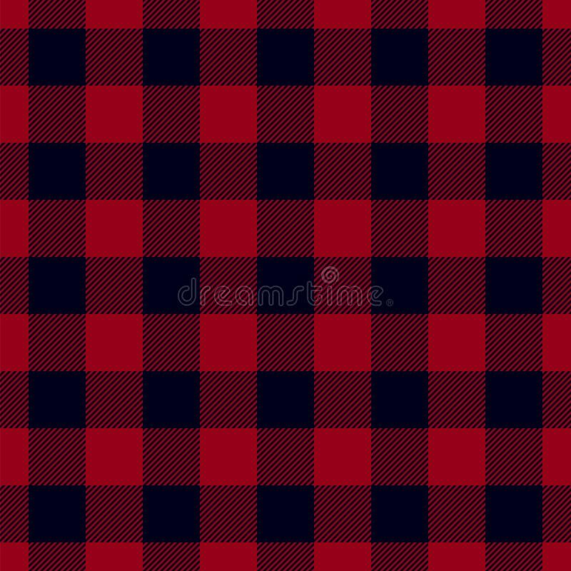 Teste padrão da manta do lenhador ilustração royalty free