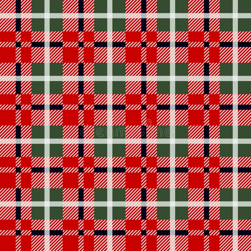 Teste padrão da manta do lenhador no vermelho e no preto Teste padrão sem emenda do vetor Projeto simples de matéria têxtil do vi ilustração do vetor