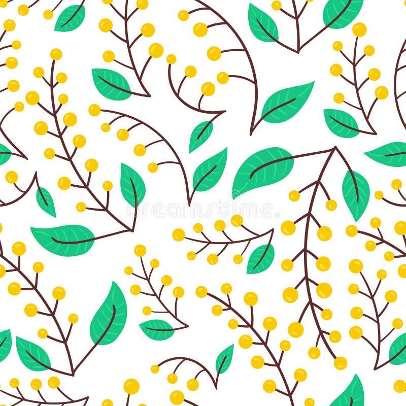 Teste padrão da natureza da baga da floresta ilustração royalty free