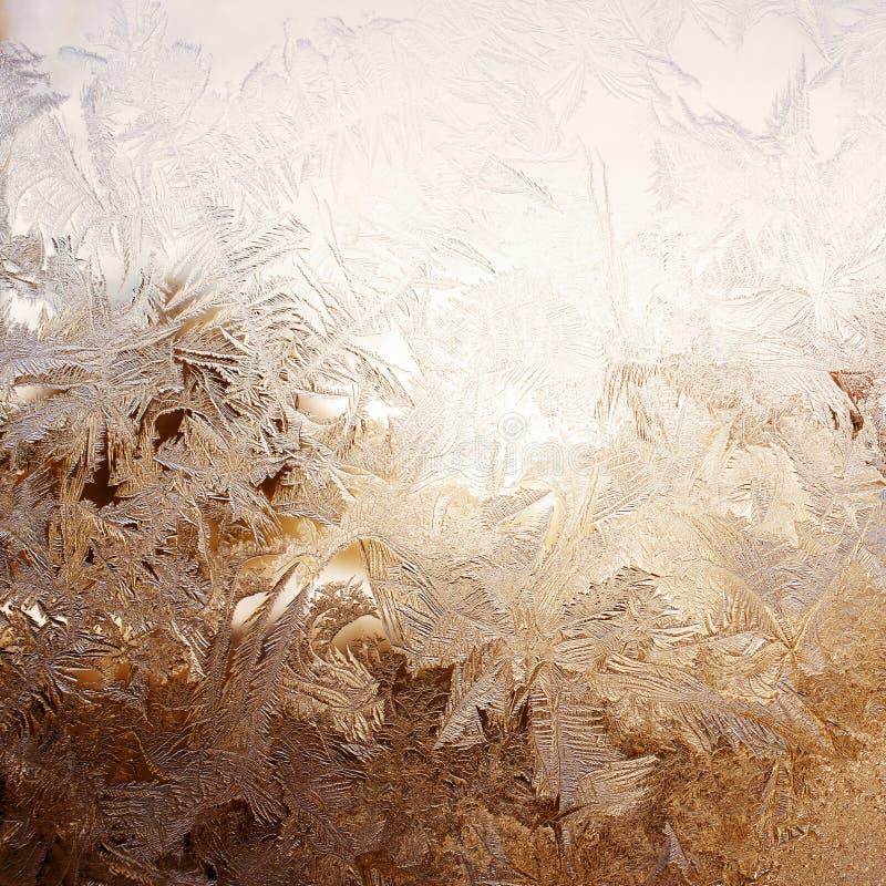Teste padrão da neve na janela imagens de stock