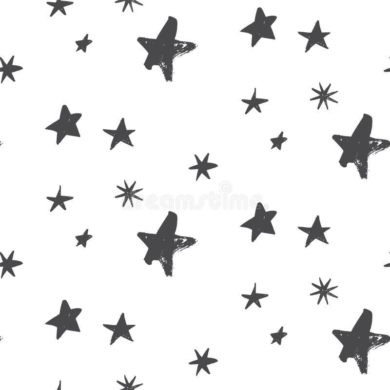 Teste padrão da noite de Natal da estrela ilustração stock