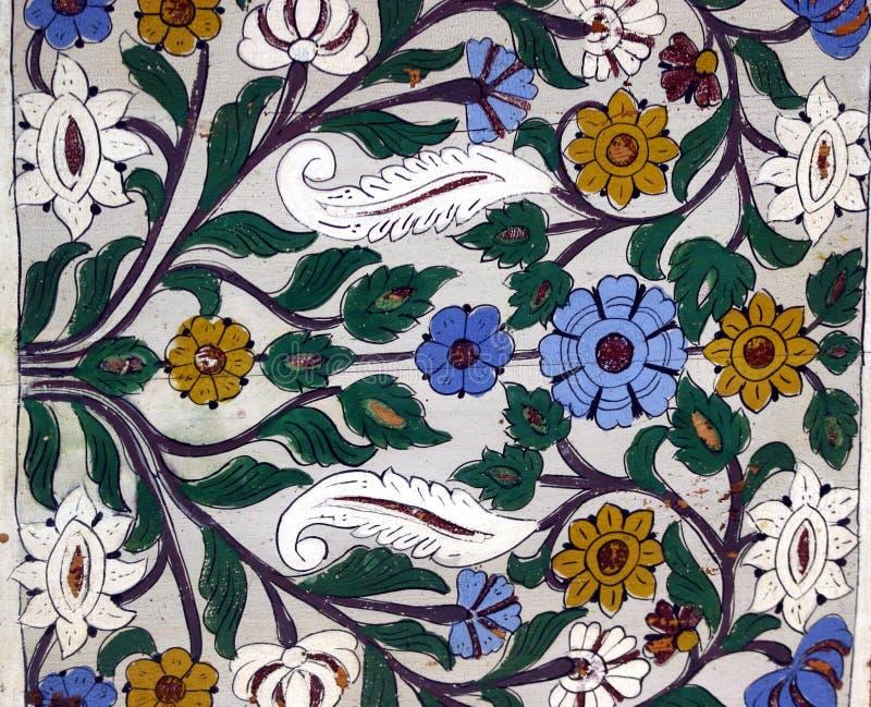 Teste padrão da parede da flor foto de stock