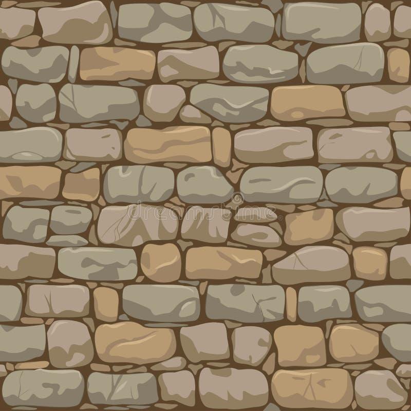 Teste padrão da parede de tijolo ilustração do vetor