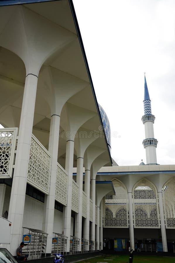 Teste padrão da parede na mesquita a de Sultan Salahuddin Abdul Aziz Shah K um xá Alam Mosque imagens de stock