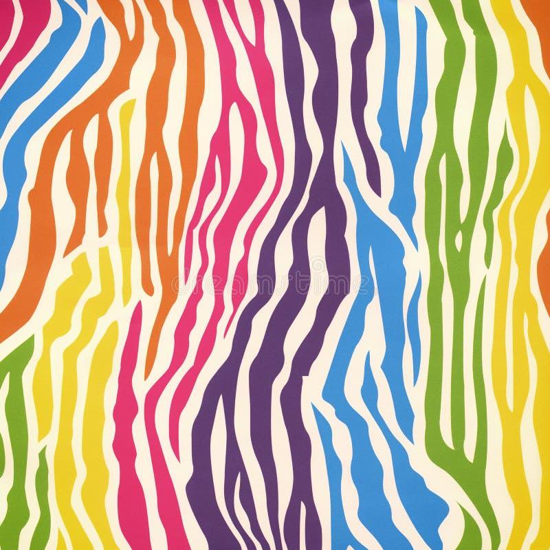 Teste padrão da pele da zebra ilustração do vetor