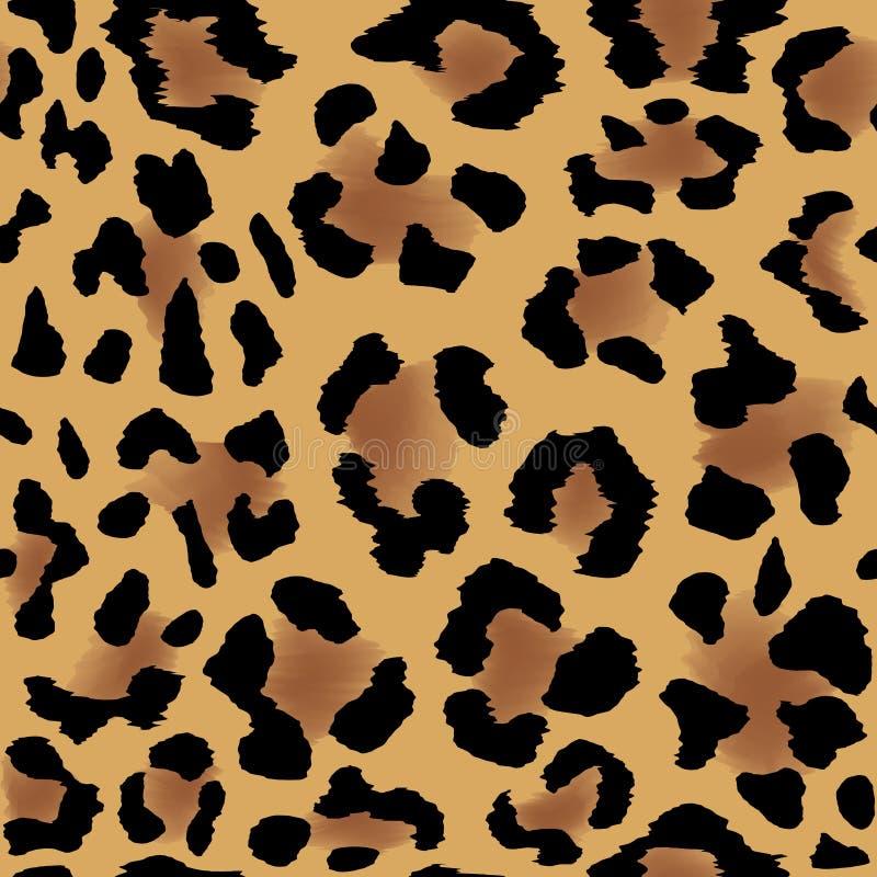 Teste padrão da pele do leopardo ilustração royalty free