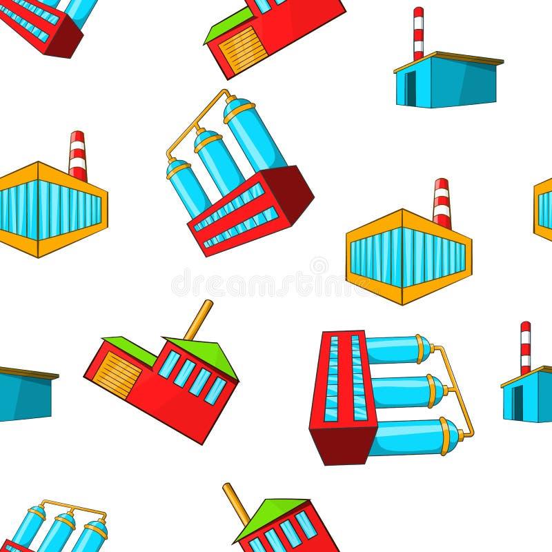 Teste padrão da planta de produção, estilo dos desenhos animados ilustração stock