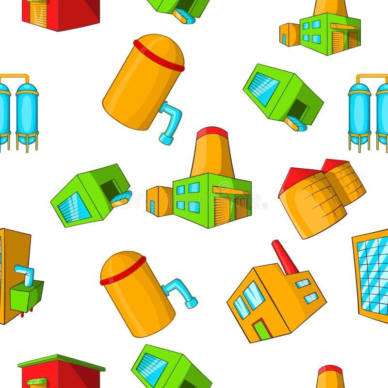 Teste padrão da planta de produção, estilo dos desenhos animados ilustração do vetor