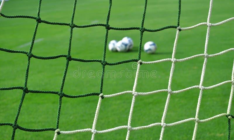 Teste padrão da rede do objetivo do futebol - fundo do futebol imagem de stock royalty free