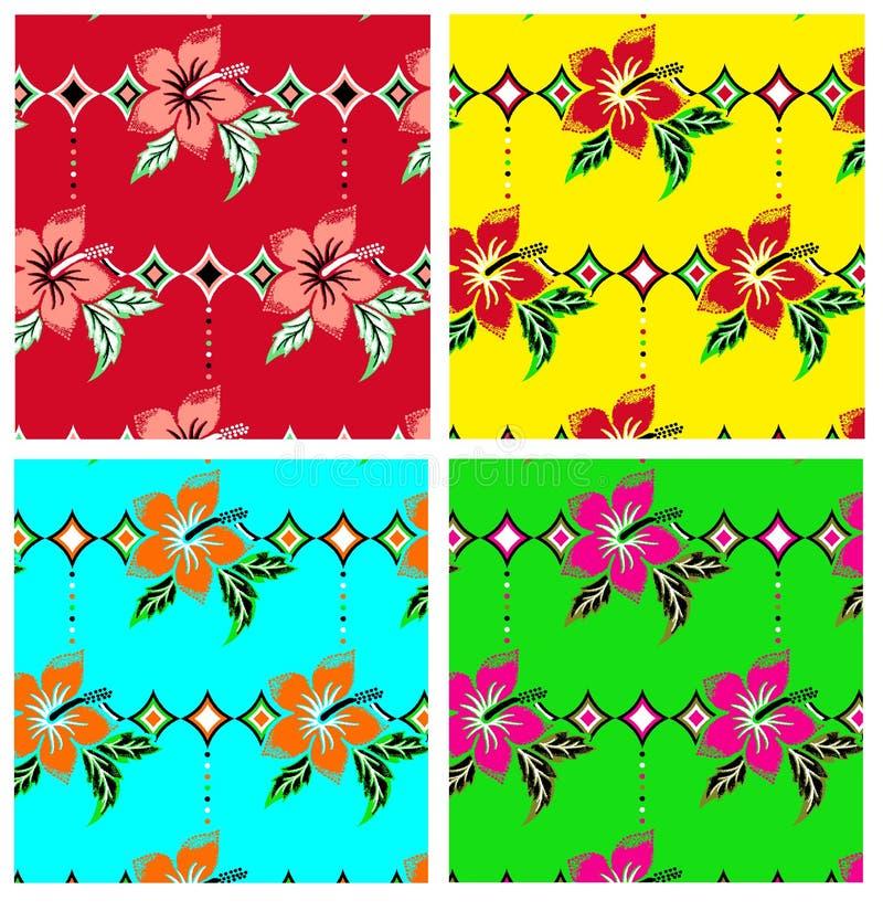 Teste padrão da repetição da flor imagens de stock royalty free