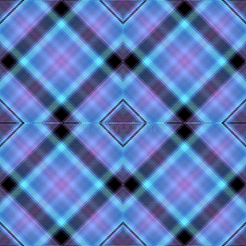 Teste padrão da tartã, fundo diagonal da tela, Stewart real ilustração stock